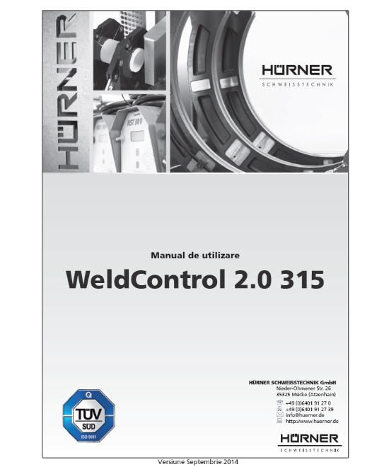 manual de utilizare WeldControl 2.0 d315
