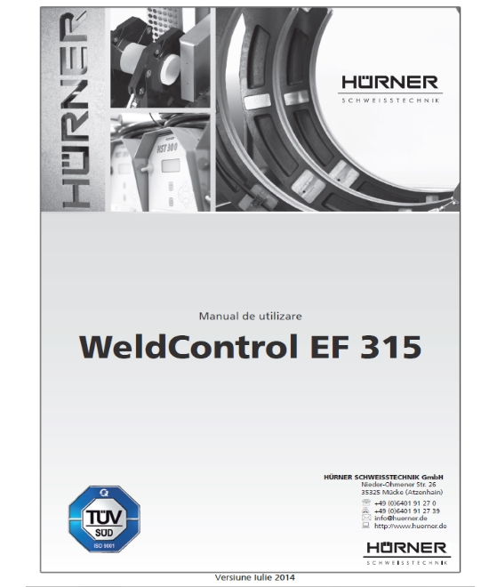 manual de utilizare WeldControl EF d315